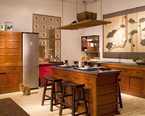 Дизайн кухни в китайском стиле фото